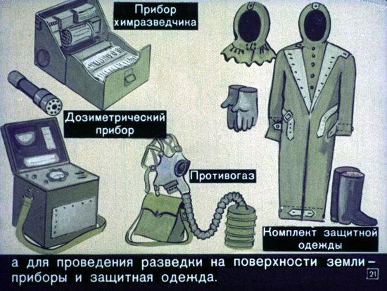 Диафильм 1970 года для школьников. Как выжить в условиях ядерной войны