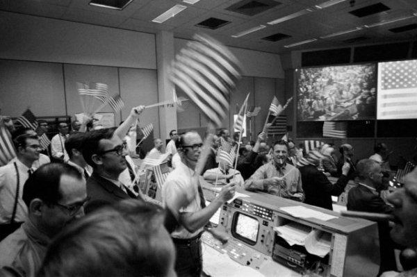 Восстановленный центр управления полётами миссии «Аполлон»
