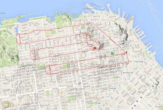 Картины на карте Сан-Франциско