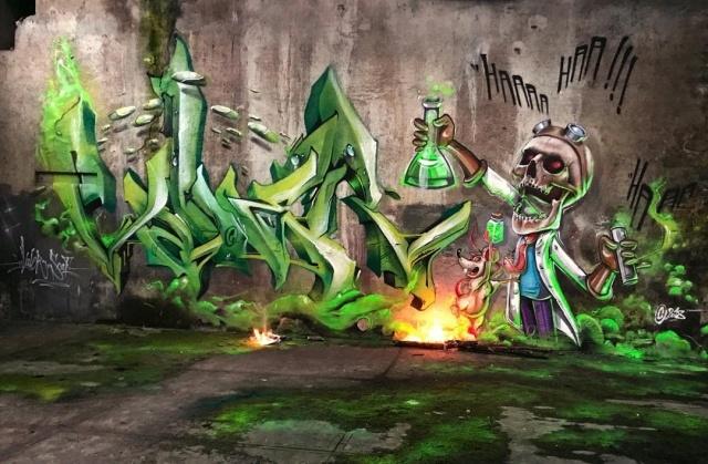 Удивительные граффити от французского мастера