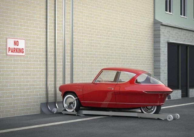 """Автомобиль, который можно """"припарковать"""" на стене"""