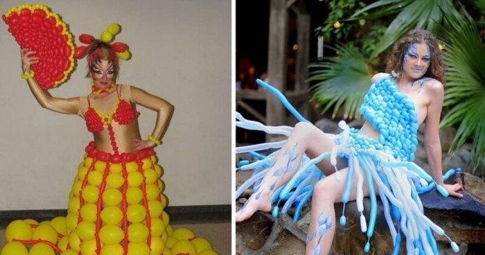 20 самых смешных и странных костюмов из воздушных шариков