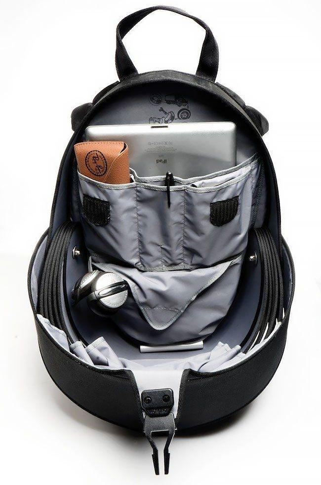 Невероятно прочный рюкзак с чешуей из переработанных шин