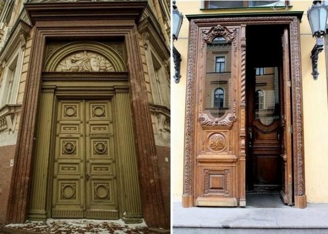 Для чего в старинных зданиях Санкт-Петербурга делали такие огромные двери?