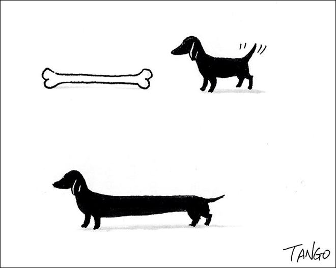 Гао Танго создаёт простые, но довольно умные и занятные рисунки