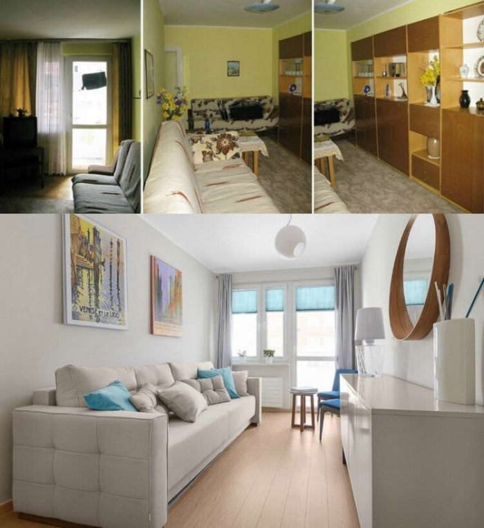 Фотографии старых квартир до и после небольшого ремонта