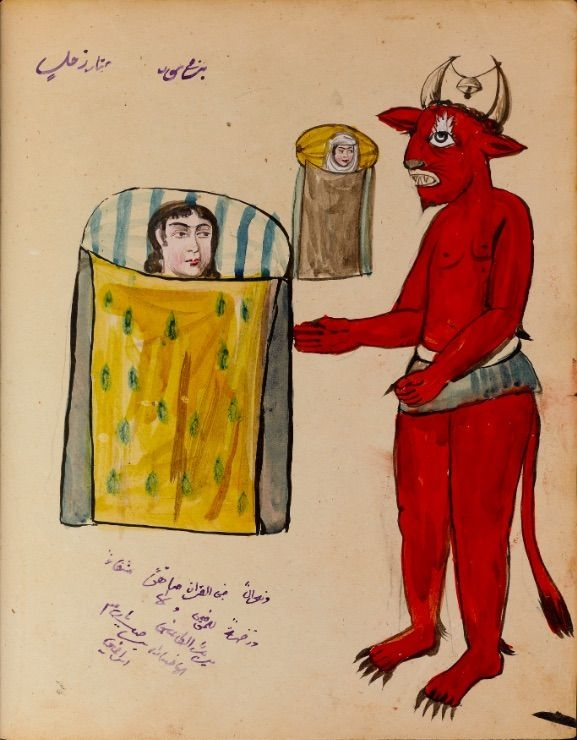 Иллюстратор Книги магии и астрологии 1921 года нехило так упарывался