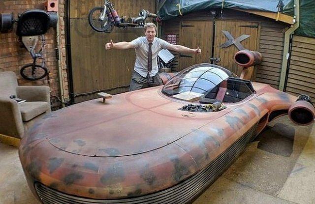 Парень собрал реальную версию транспортного средства из «Звездных войн»