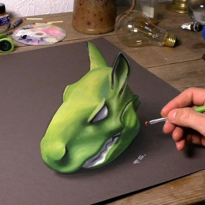 Потрясающие 3D-рисунки на обычной бумаге