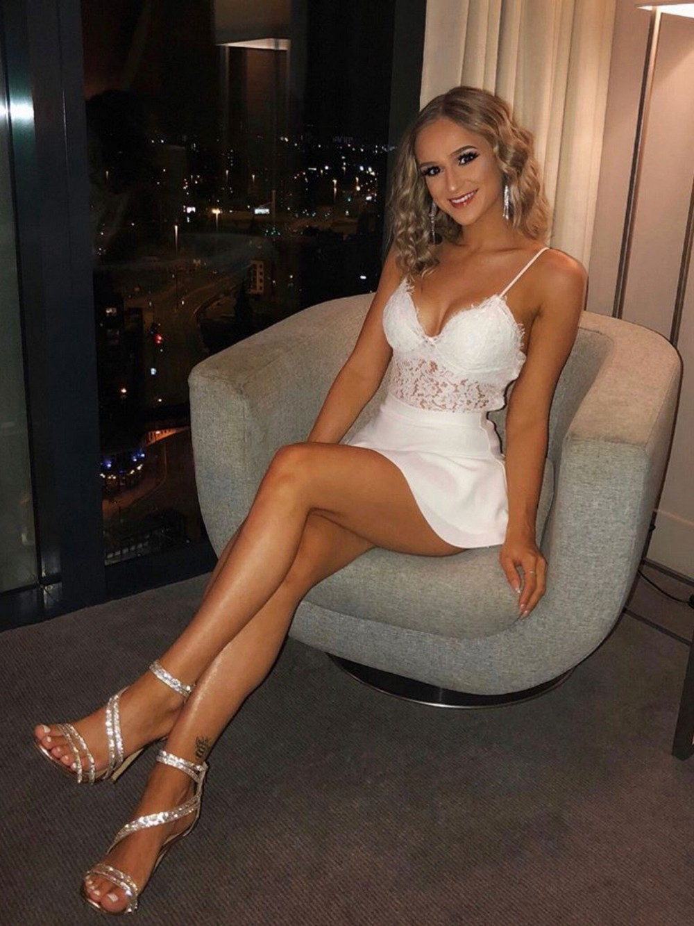 Shop hot sexy evening party bandage bodycon club dress women cocktail halter neck backless mini dress online
