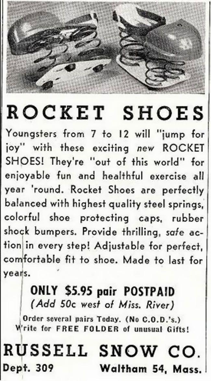 Детские туфли из 60-х, имитирующие ходьбу на Луне