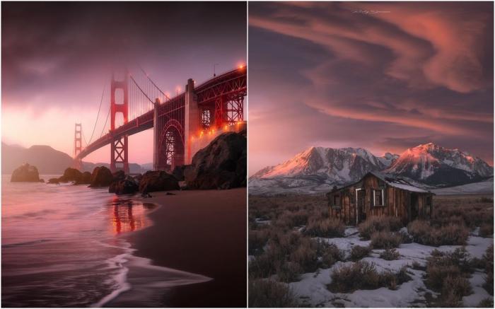 Замечательные пейзажи Калифорнии Руди Серрано