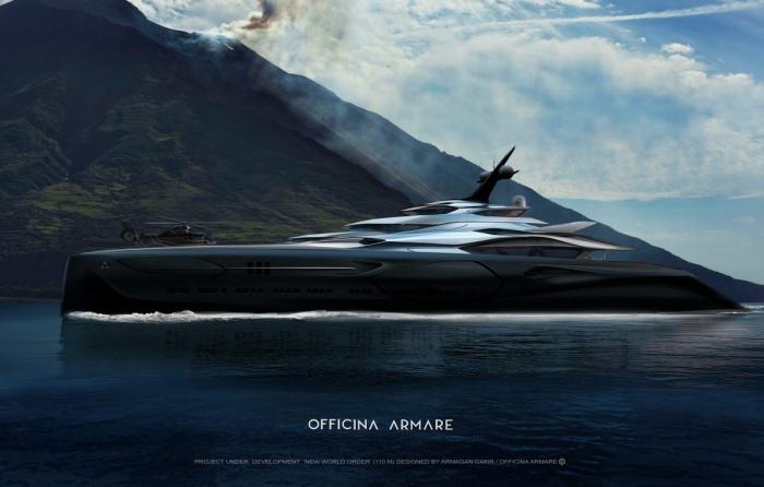 Самая роскошная суперяхта в мире, построенная по образцу космических кораблей