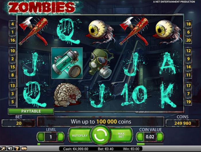 Игровой автомат Zombies (Зомби) от myloveslot.com