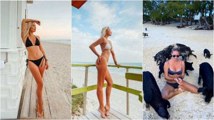 Елена Летучая на отдыхе в США и на Багамах