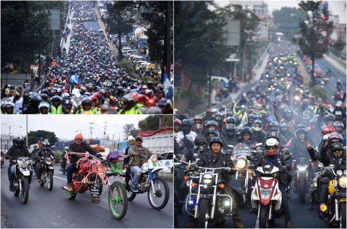 Паломничество байкеров в честь Черного Христа в Гватемале