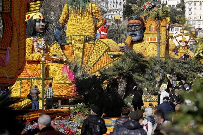 87-й фестиваль лимонов в Ментоне
