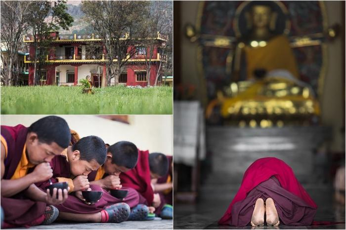 Жизнь в буддийском монастыре Тилопа на снимках Алексея Терентьева