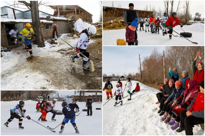 Первая женская хоккейная команда Кыргызстана