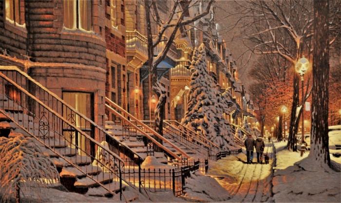 Канадская зима на картинах Ришара Савуа