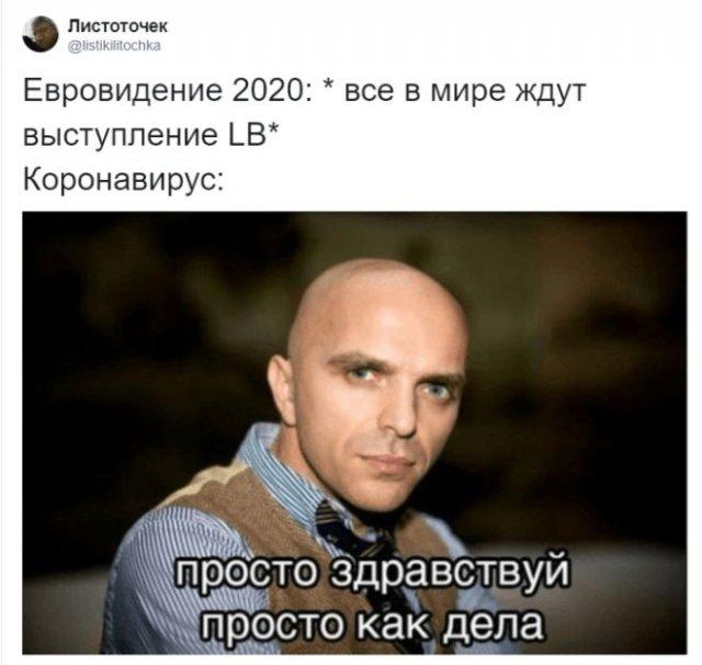 Реакция пользователей на отмену Евровидения-2020