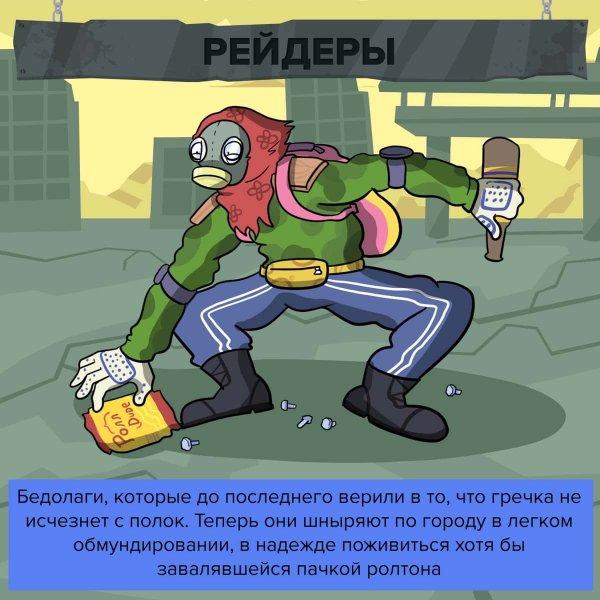 Ироничный комикс о типах людей, которые выживут после эпидемии коронавируса