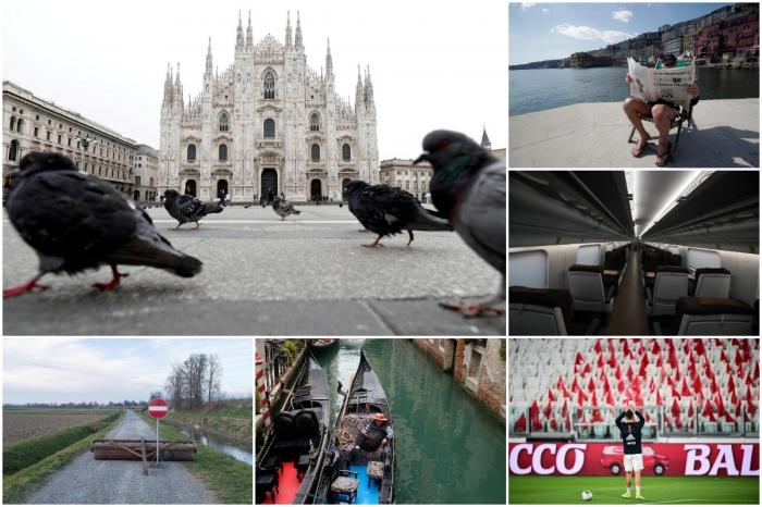 Пустынные улицы Италии из-за коронавируса