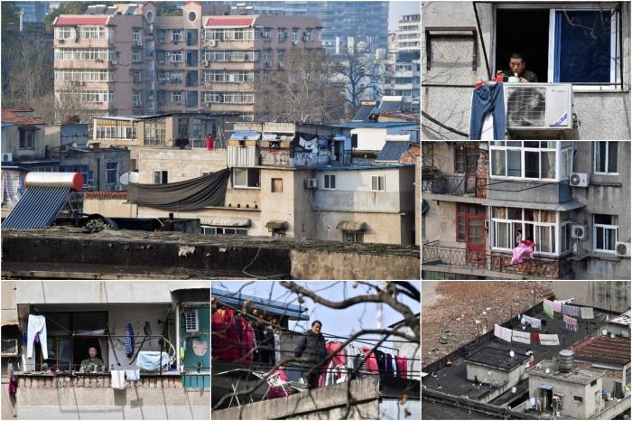 Жизнь взаперти окна, балконы и крыши домов Уханя