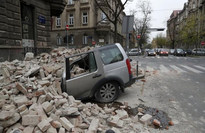 Последствия землетрясения в Хорватии