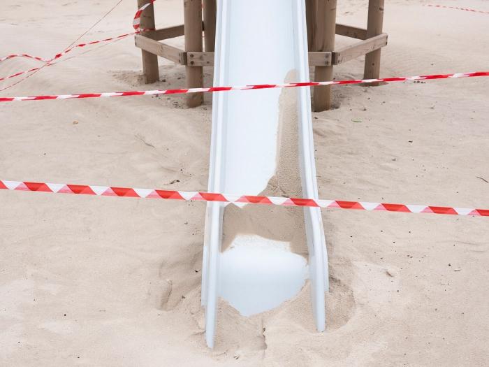 Опустевшие из-за коронавируса пляжи Тель-Авива