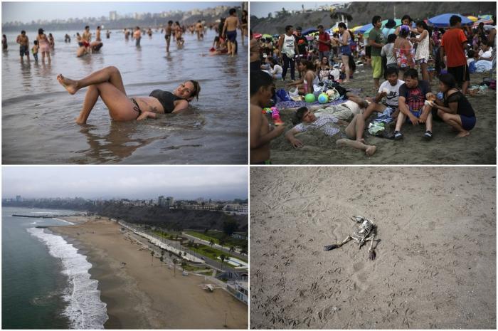 До и после COVID-19: пляж Агуа-Дульсе в Перу