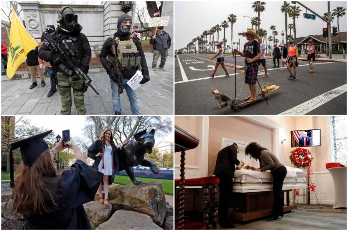 Фотографии, сделанные в США на прошлой неделе