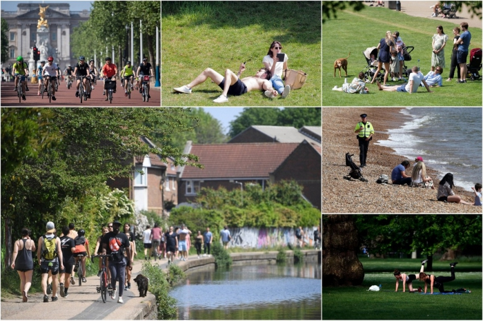 Британцам разрешат загорать в парках и заниматься спортом неограниченное время