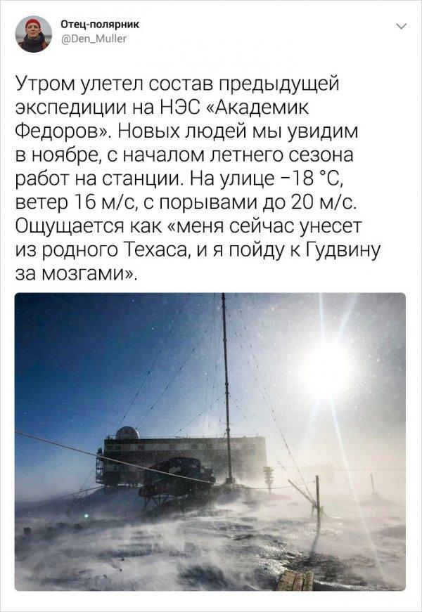 Подборка интересных твитов от полярника, который рассказал о жизни в Антарк ...