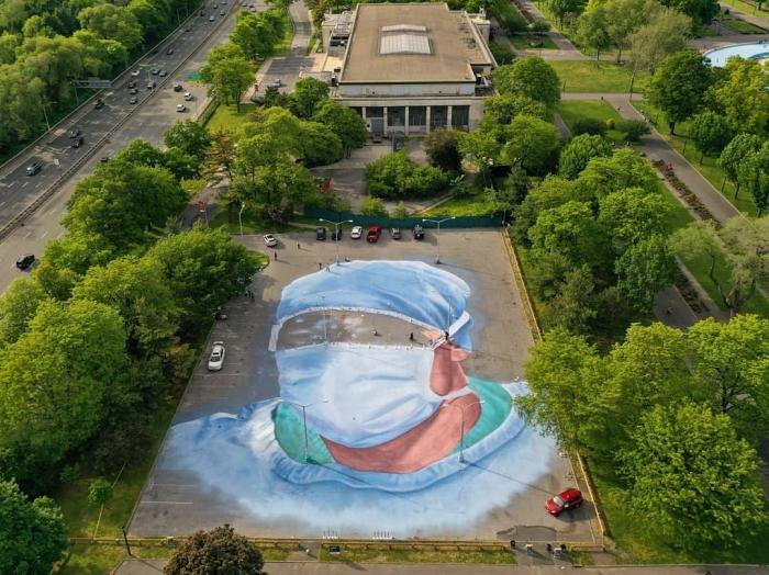 Хорхе Родригес-Герада создал мурал площадью 1858 квадратных метров