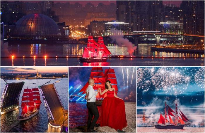 Всероссийский выпускной праздник «Алые паруса» в Петербурге