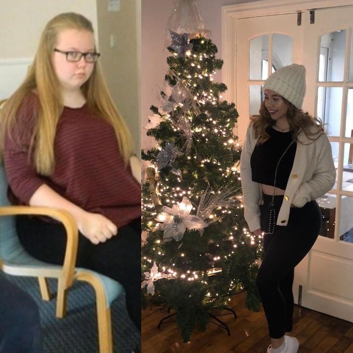 Девушка, весившая 108 кг, похудела вдвое и превратилась в красавицу