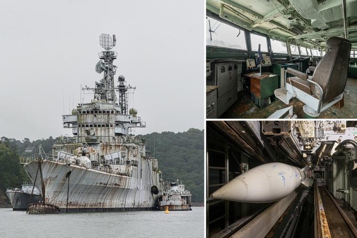 Кладбище военных кораблей во Франции