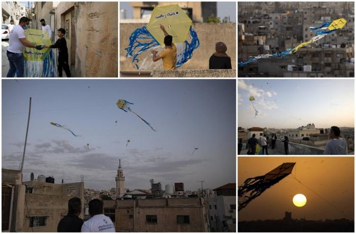 Воздушные змеи в небе Аммана