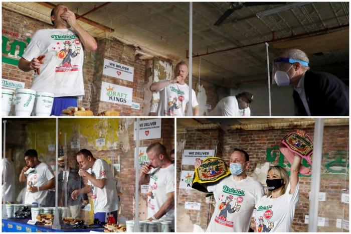 В Нью-Йорке прошел ежегодный Чемпионат по поеданию хот-догов