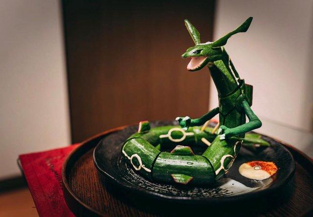 Необычная подача блюд японского художника
