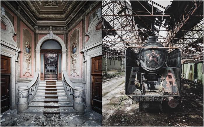 Оставленные людьми места на снимках Саймона Йонга