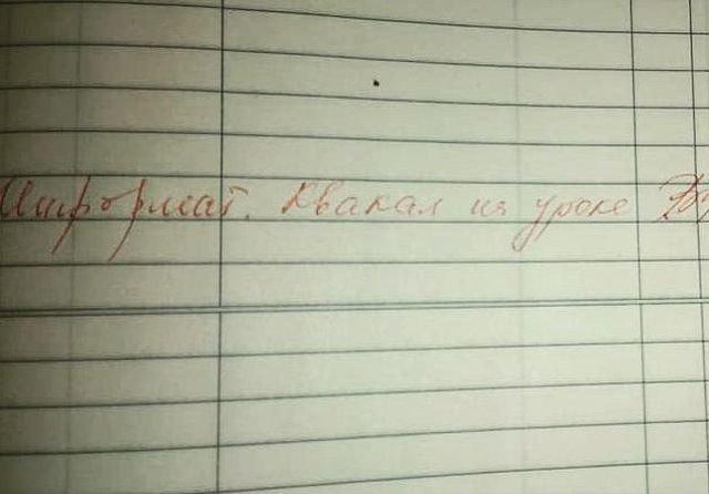 Подборка забавных замечаний в школьных дневниках