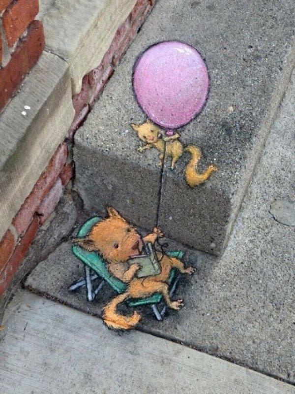 Мел + воображение = залог хорошего настроения