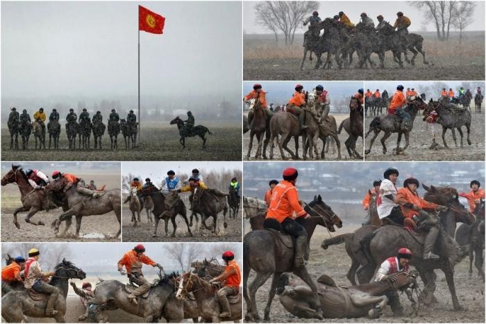 Смешались в кучу кони, люди: соревнования Кок-бору в Киргизии