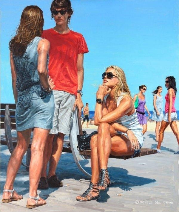 Реализм в работах художника Michele Del Campo