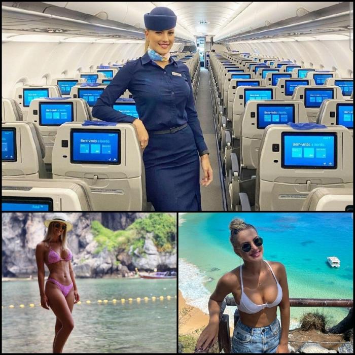 Сексуальные стюардессы в униформе и без неё