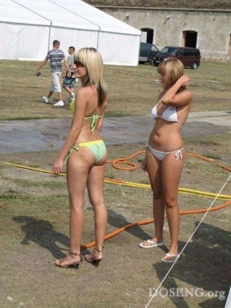 Как девченки машину мыли (20 фото)
